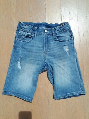 H&M & Denim Girls Age 10 11 Blue Denim Slim Fit Crop Shorts Holiday Kids 146cm