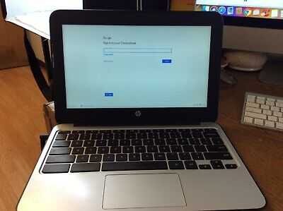 "HP Chromebook 11 G3 11.6"" N2840 2.16GHz 4GB RAM 16GB SSD Good Condition"