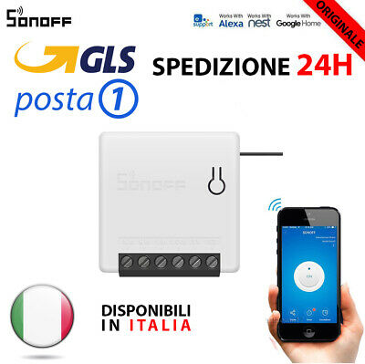 SONOFF MINI NEW Domotica Wifi Switch interruttore Alexa Google Timer ITALIA 2019
