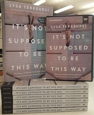It's Not Supposed to Be This Way (Lisa Terkeurst) HB book, DVD, 6 PB Study Guide
