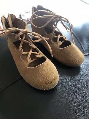 Zara Baby Girl's Suede Shoes / Sandals Size 23/uk 6
