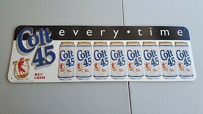 Colt 45 Beer Can  Metal Tin Beer Sign