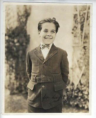 JOHNNY DOWNS 1920s SIGNED PHOTO OUR GANG Little Rascals CHILD ACTOR VERY YOUNG!!