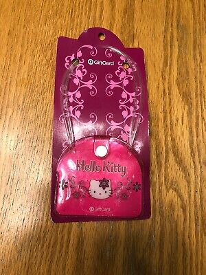 Hello Kitty Sparkle Pink Mini Purse Target Gift Card still on backer Sanrio Co.