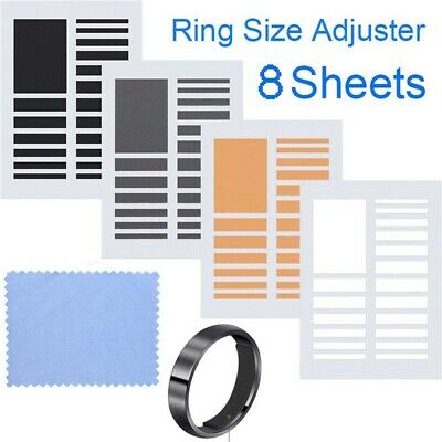 8 Sheets Invisible Ring Sizer Ring Size Adjuster Not Included Rings 4 Colors