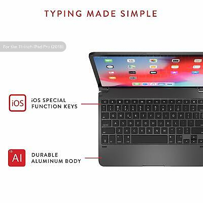 Brydge BRY4012 Bluetooth Keyboard for Apple iPad Pro 11in. - Space Gray
