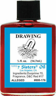 7 Sisters Drawing Oil  1/2oz Witchcraft Abundance Wealth Love Attraction Wicca