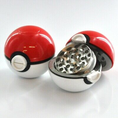 Pokemon Pokeball Grinder For Herbs and Spices - 3 Piece, US Shipper, Best Offers