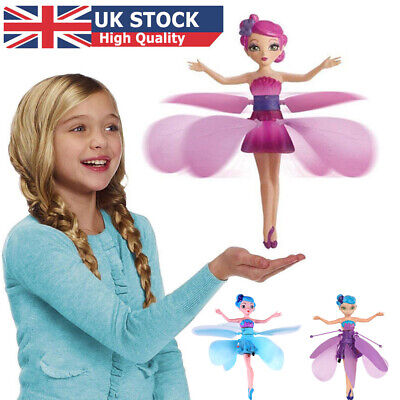 Flying Fairy Princess Dolls Magic Infrared Induction Control Girl Toy Best Gift@