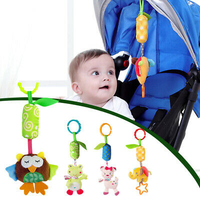 Cartoon Animal Wind Chime Baby Stroller Soft Pendant Toys Baby Bedside Rattle AU