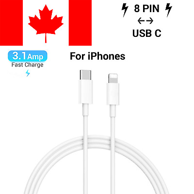 USB 3.1 Type C to Lightning Data Sync PD Fast Charge Cable for iPhone iPad iPod