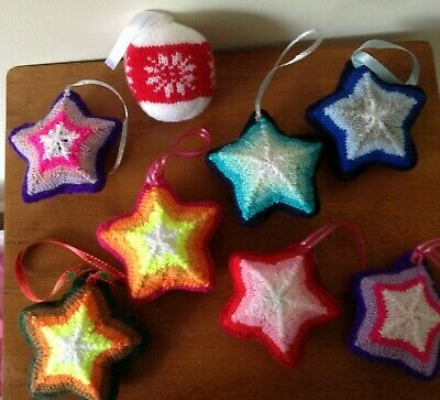 Christmas Tree decorations, Hand Knitted