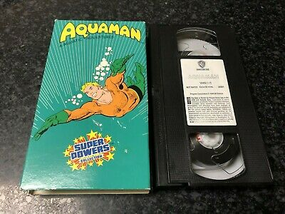 Aquaman Vhs Video-Super Powers Collection-Free Shipping-55M-Wb-Cartoon