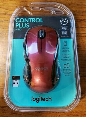 NEW SEALED LOGITECH M510 Wireless Optical Mouse Black 910