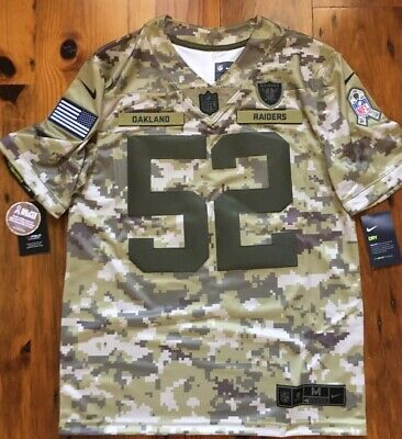 100% authentic fe997 15d83 NIKE WOMENS OAKLAND Raiders Khalil Mack #52 Salute To ...