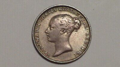 1845 Sixpence. Young Head. Victoria 1837-1901.Solid Example. British Milled#1844