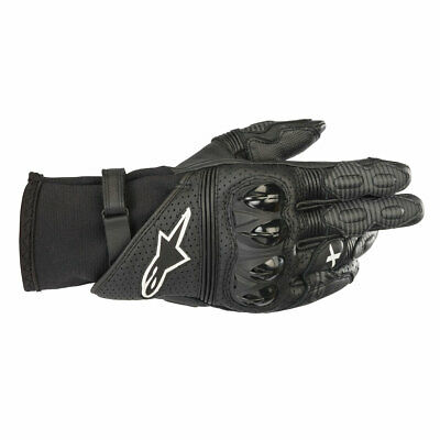 CLEARANCE SALE | Alpinestars Gp X V2 Motorcycle Motorbike Gloves Black Small