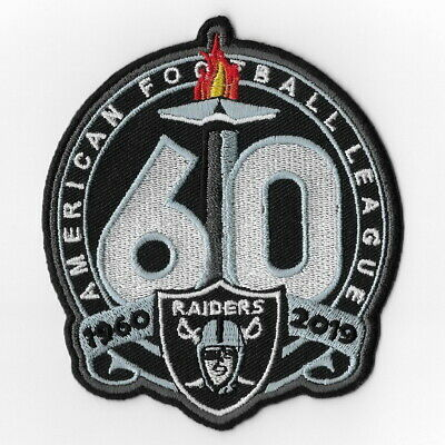 Las Vegas Raiders Big 60th Iron on Patches Embroidered Patch 1960 Oakland FN