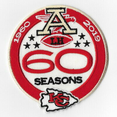 Kansas City Chiefs Big 60th Seasons Iron on Patches Embroidered Patch 1960 FN