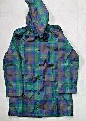 BNWT- Girls Isle of Skye Tartan Pack-a-Mac Raincoat in Bag Age 5-6 - LochCarron