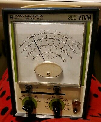 Vintage Precise  Electronics Tube Voltmeter model V-6, powers up