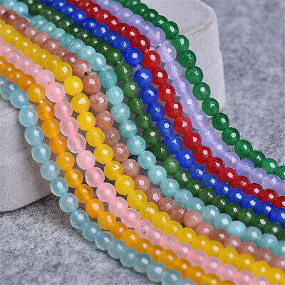 6mm Colorful Round Agate Loose Beads Diy Accessories Jewelry Making Shining