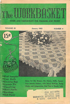 1953 Eleven Issues of The Workbasket Magazine Vol. 18 No. 4 To Vol. 19 No. 3