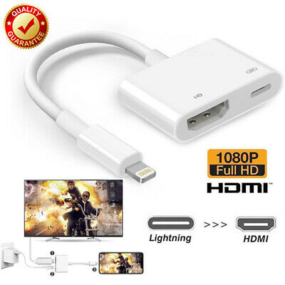 Lightning To HDMI Cable Digital AV TV Adapter For iPhone6 8 X iPad High Quality!
