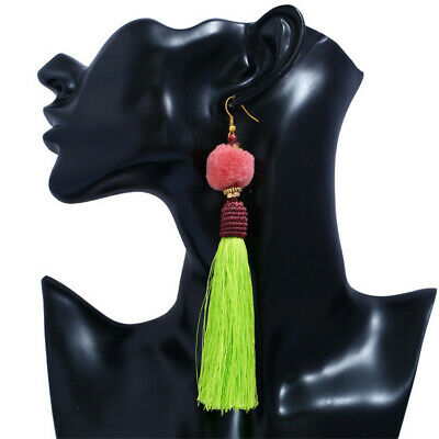 Bohemia Pompom Handmade Weave Earrings Tassels Elegant Classic Dangle Luxury