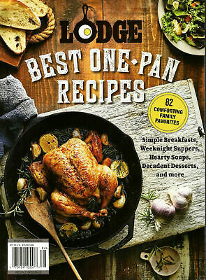 LODGE Cast Iron *BEST ONE-PAN RECIPES* - 82 Favorites - 2019 NEW