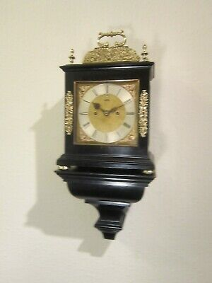 19th century twin fusee basket top bracket clock with bracket