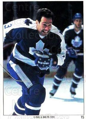 1991 Toronto Maple Leafs Panini Team Stickers #15 Brad Marsh