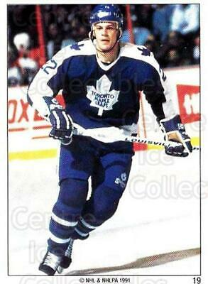 1991 Toronto Maple Leafs Panini Team Stickers #19 Scott Pearson