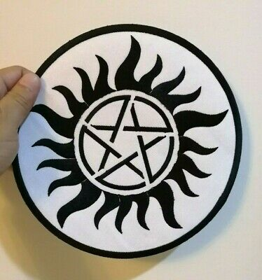 SUPERNATURAL ANTI POSSESSION Patch Tattoo Pentagram Licensed