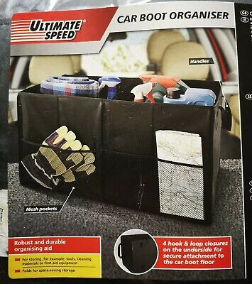 Ultimate Speed Car Boot Organiser Tidy With Handles Gift Travel