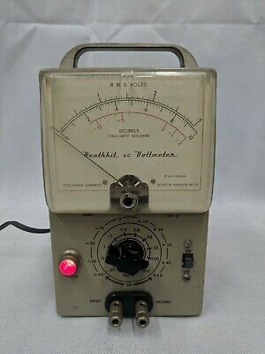 Vintage Heathkit AV-2 Tube AC Voltmeter 1950's for audio amplifier Powers On