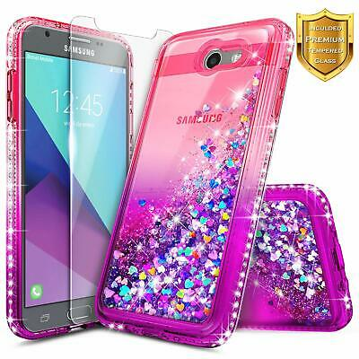 Galaxy J7 Prime Case, J7 Sky Pro /J7 V /J7 Perx/Galaxy Halo w/[Tempered Glass Sc