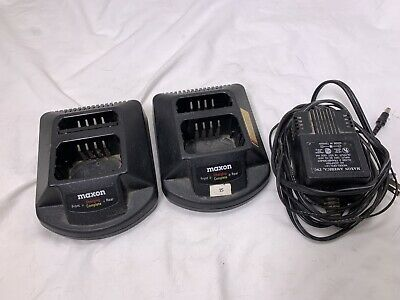 2 MAXON QPA-1125 Dual Chargers w (1) Power Adapter