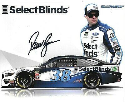 2019 David Ragan Select Blinds #38 Monster Energy Autographed Signed Postcard