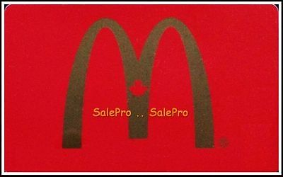 McDONALD 2013 CANADIAN RED MAPLE LEAF ARCH RARE BILINGUAL COLLECTIBLE GIFT CARD