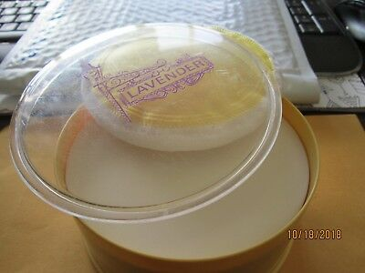 LAVENDER Dusting Power Yellow Case Powder Never used sealed REXALL USA Vintage