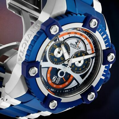 Invicta Men 63mm Retro JOKER Grand Octane Arsenal Swiss Chrono Blue TT SS Watch