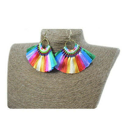 Bohemia Colorful Tassels Handmade Weave Earrings Flawless Party Jewelry Elegant