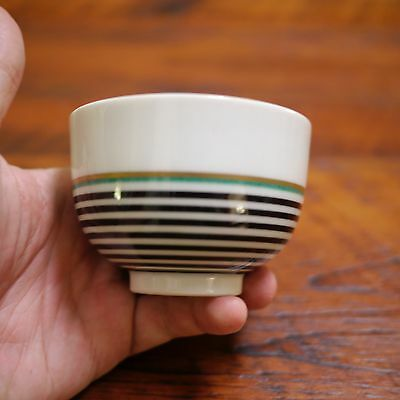 Set 3 Vtg Art Deco Asian Japanese Porcelain Rice Miso Ceramic Soup Bowls Cups