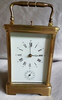 Antique Carriage Clock French Brass 8 Day Repeater