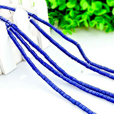 1pcs 4x4mm Lapis Lazuli Cylinder Loose Bead Styles Colorful Strand Opaque Stone