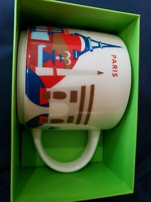Starbucks Paris France Mug Cup Country City You Are Here Collection 14oz NEW NIB