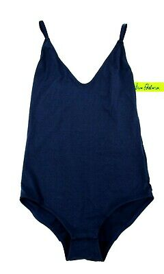 Sam Edelman Small Strappy Back V-Neck Adjustable Strap Bodysuit Navy New 4786