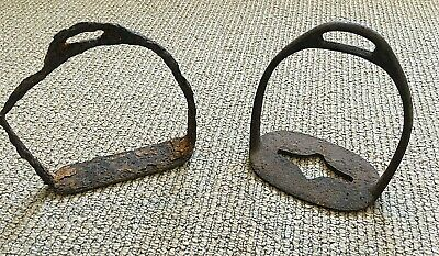 Pair Of Genuine Dug Iron Civil War Confederate? Cavalry Stirrups