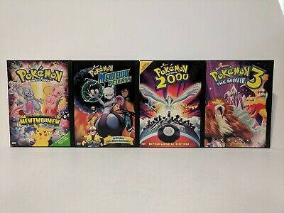 Pokemon The First Movie, Mewtwo Returns, The Movie 2000, The Movie 3 - Used